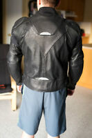 BRAND NEW - Large Perforated Leather Jacket - $250