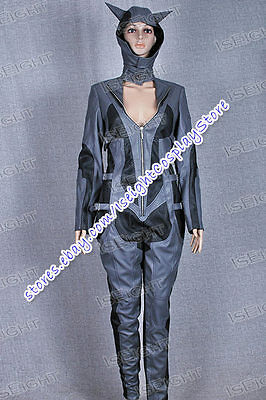 Arkham City Cosplay Catwoman Costume Female Jumpsuit Outfit Halloween