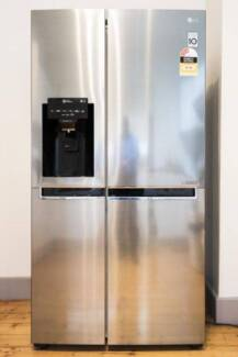 DOWNSIZING SALE: LG Side By Side 668L Fridge with 5 Yr Warranty!