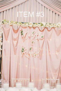Wedding - Backdrop fabric (shimmery pink and shimmery champagne)