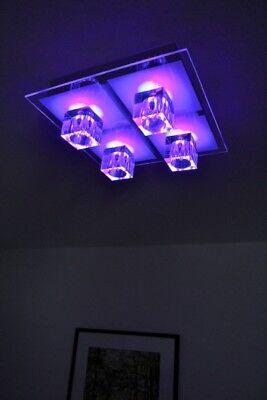 Design Lampe LED Farbwechsel Fernbedienung Deckenlampe Deckenleuchte Leuchte NEU