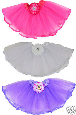 Ballett Blume (Tütü mit Blume  Ballettrock Tutu Tüllrock Mädchen Rock Sommerrock  Ballett Neu)