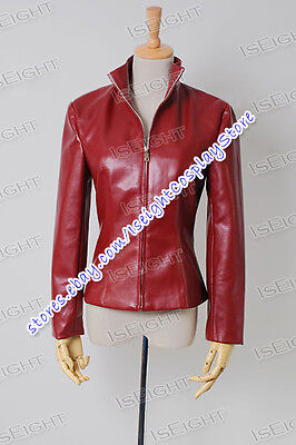We Make Costume For Who Cosplay Doctor Red Leather Jacket Coat Halloween Party
