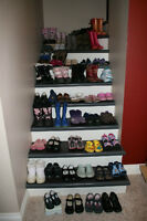 60 pairs of girl's shoes, boots, dress shoes size 9-1 and more