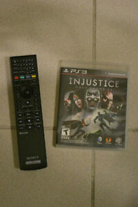 Jeu injustice ps3 + manette bluray ps3