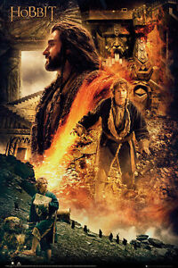 The-Hobbit-Desolation-of-Smaug-Fire-Poster-Official-Maxi-JRR-Tolkien-New-FP3089