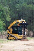 Skid steer services/post holes/stump grinding