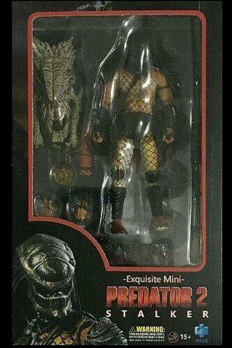 Hiya Toys Predator 2 Stalker Predator 1:18 Scale Action Figure New and In Stock