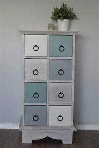 Rustic Beachy Teak Chest of Drawers / Cabinet Lilyfield Leichhardt Area Preview