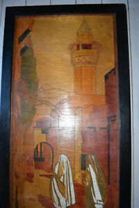 """INLAID WOOD PERSIAN PICTURE """"TWO WOMEN AND A MOSQUE"""" Gatineau Ottawa / Gatineau Area image 4"""