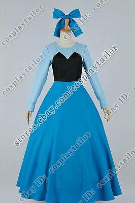 The Little Mermaid Cosplay Princess Ariel Costume Blue Dress Beautiful Good Sell - Ariel Blue Dress Cosplay