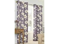 Next Pair of Curtains magnolia print in perfect condition like new