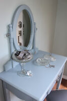 Refinished vanity and stool