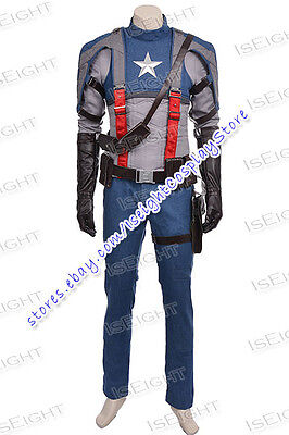 The First Halloween Costumes (Captain America: The First Avenger Steve Rogers Cosplay Costume Halloween)