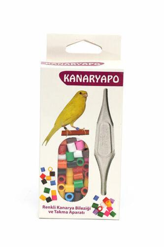 Bird Finch Canary Leg Bands Leg Rings applicator 10 colors Plastic  225 -250 Pcs