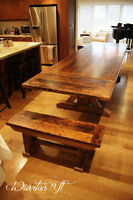 Maximize Seating! Reclaimed Wood Benches
