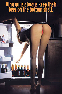 Beer Babe Bending Funny Kegerator / Refrigerator / Tool Box Magnet Man Cave