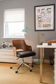 MADE Cornell Swivel Office Chair, Walnut and Black Seating Height 46.5 - 56 cm - Excellent Condition
