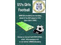 U17/U15 Girls football players WANTED
