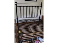 Quality metal double bed frqme