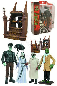 Diamond-Select-Toys-The-Munsters-Series-2-Action-Figure-Set-of-4-New