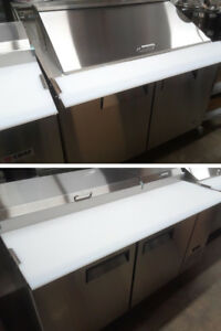 Sandwich coolers, Pizza prep tables, Stainless steel Freezers