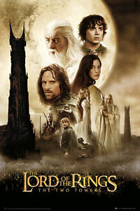 THE-LORD-OF-THE-RINGS-POSTER-THE-TWO-TOWERS-LICENSED-BRAND-NEW-J-R-R-TOLKEIN