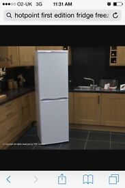 Hotpoint first edition fridge freezer RFAA52P in excellent condition 10 years warranty - can deliver