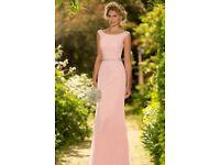 Blush pink Bridesmaid dress & tweed page boy outfit