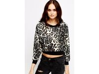 Animal Print Contrasted Sweatshirt size 10/12