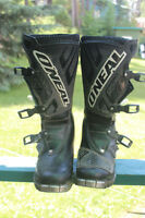 O'NEAL MOTOCROSS OR MOTORCYCLE BOOTS MENS SIZE 8