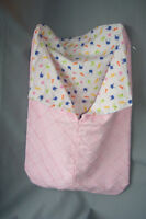 Bunting: Pink Lined With Soft Flannelette