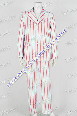The Beatles Cosplay Ringo Starr Costume Stripe Suit Full Set Uniform Halloween