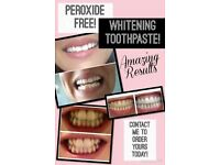 Peroxide free whitening toothpaste £10 for 1, £18 for 2!!