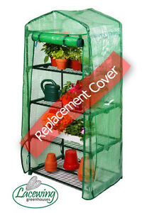 Lacewing 4 Tier Plastic Reinforced Replacement Cover Mini Greenhouse Grow House