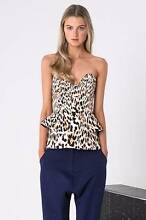 FINDERS KEEPERS Take a shot leopard bustier bodice [ XS ] 6-8 NWT Lara Outer Geelong Preview