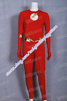 Flash Cosplay Costume Red Jumpsuit Halloween Outfit High Quality Cool - Cheap Cool Costumes
