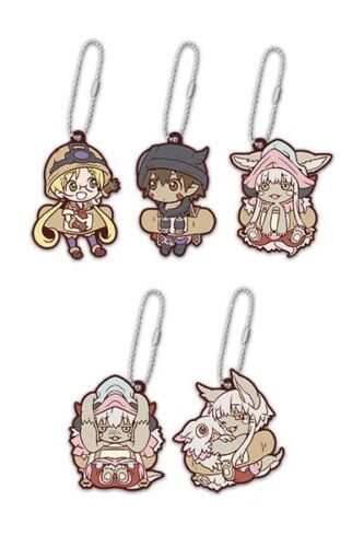 Made in Abyss Anime Mascot Swing PVC Keychain Set Riko Reg Nanachi Mitty ND71028