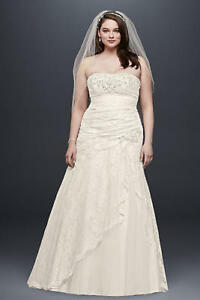 Wedding dress, veil, bustier, slip/crinoline