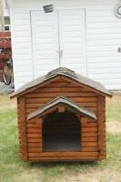 Log cabin style dog house