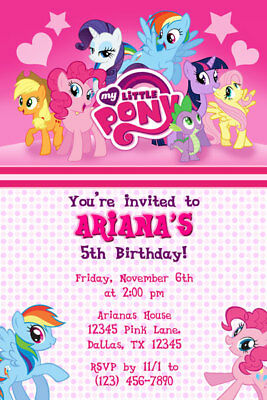My Little Pony Invitations - Birthday Party - Shipped or Printable](My Little Pony Printables)