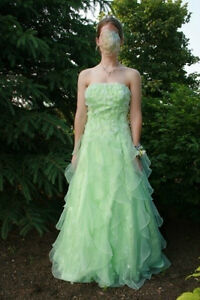 Flowy Mint Green Prom Dress
