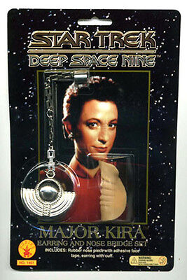 Star Trek: DS9 Major Kira Bajoran Earring & Nose Bridge Prop Set- Rubies