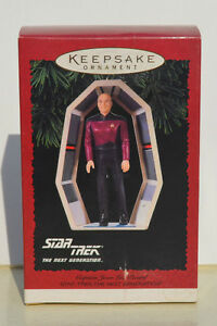 STAR TREK TNG Hallmark Ornament Set - Piccard & Riker `