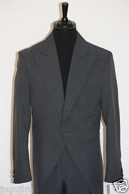 Cut Cataway Schwalbenschwanz  mit Hose Hochzeitsanzug Herrenanzug grau graphit
