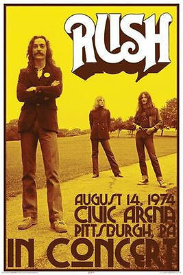 RUSH - CONCERT POSTER - 24x36 MUSIC BAND PITTSBURGH 24981