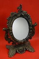 Antique Cast Brass Vanity Mirror