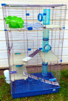 Three storey cage for rat, chinchilla, ferret or other