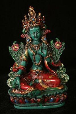 Green Tara statue 6 inch resin