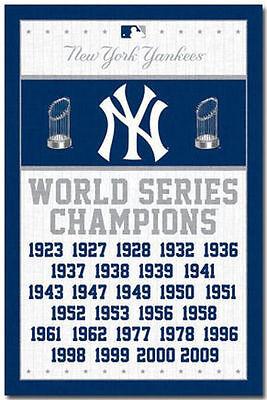 NEW YORK YANKEES - WORLD SERIES CHAMPIONS POSTER - 22x34 BASEBALL 6747](New York Yankee Baseball)